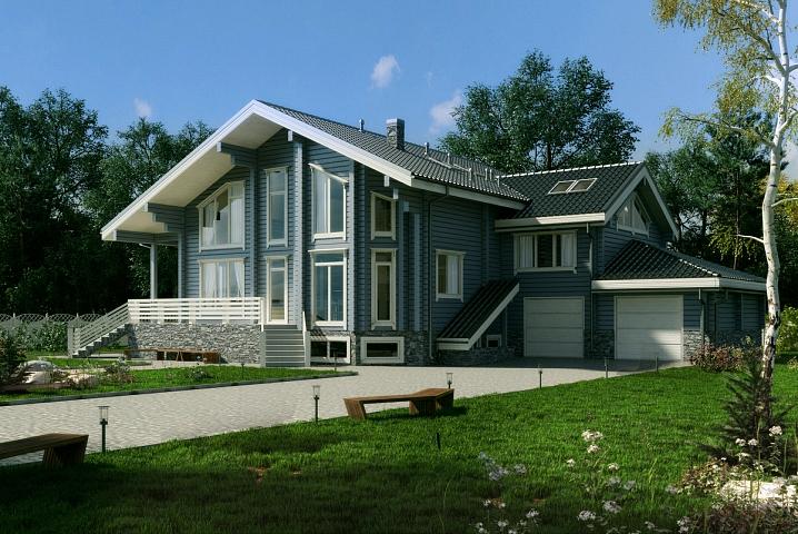 индивидуальный проект дома из бруса 603 м2