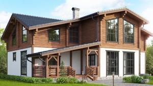 Комбинированный дом шале. Его особенности