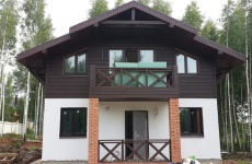 Готовый каркасный дом по проекту кк-145