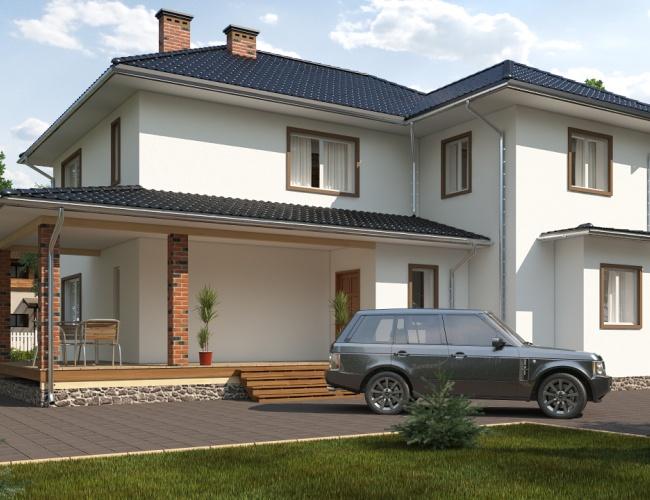 Проект дома из кирпича KV-299