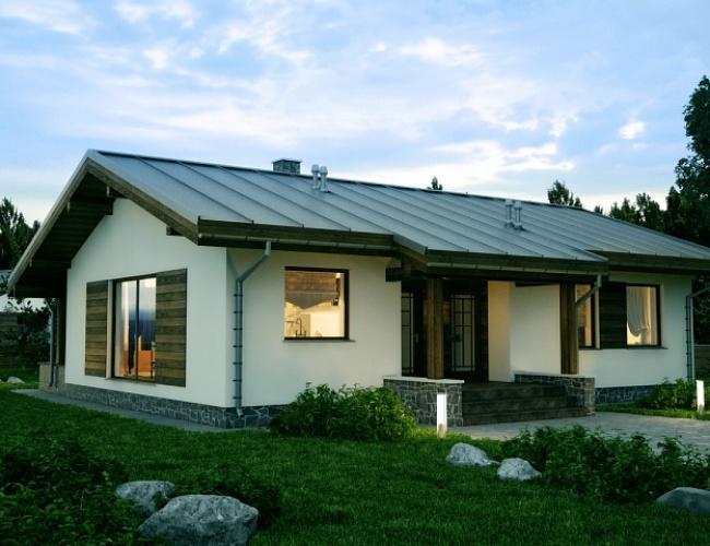 Проект дома из кирпича KV-145