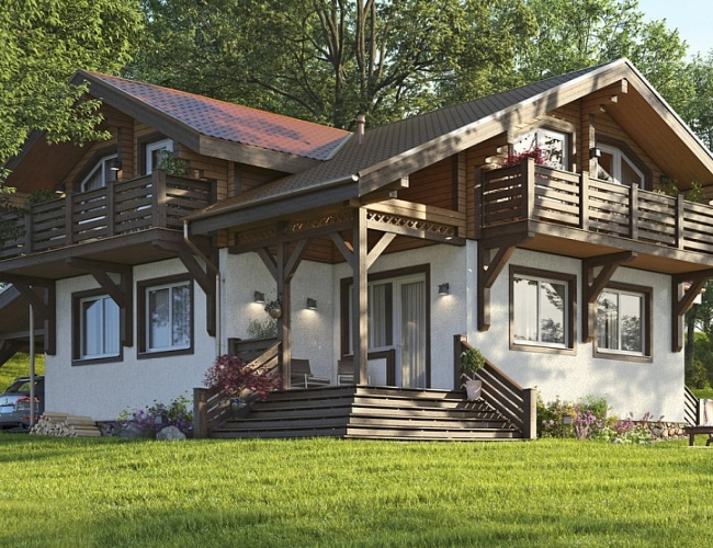 Проект комбинированного дома КД-202