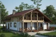Проект комбинированного дома КД-211
