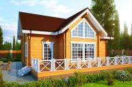 Проект дома из клееного бруса КБ-200