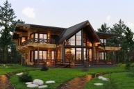 Проект дома из клееного бруса 481м2