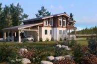 Индивидуальный проект комбинированного дома 362 кв.м.