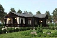 Проект одноэтажного дома КБ-180