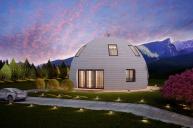 Проект Купольный дом 123м2