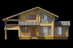 Проект дома из клееного бруса КБ-178, 12х12 м