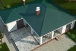 Проект одноэтажного кирпичного дома KV-195