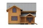 Проект дома из клееного бруса КБ-217
