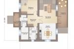 Проект комбинированного дома шале КД-225