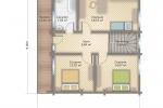 Проект комбинированного дома шале КД-156