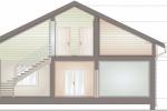 Проект комбинированного дома шале КД-318