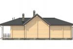 Проект одноэтажного дома из клееного бруса 191 кв.м.