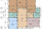 Проект одноэтажного дома из клееного бруса 165 кв.м.