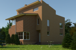 Проект дома из кирпича KV-280