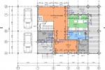 Проект дома из клееного бруса КБ-188, 10х16м
