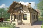 Проект каркасного дома КК-192, 9х10 м