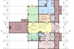 Проект дома-гостиницы из клееного бруса КБ-256, 17х17 м